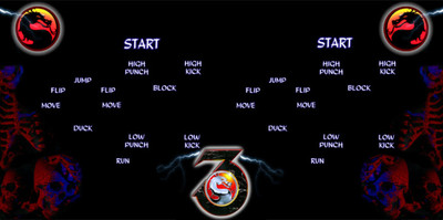 Mortal Kombat 3 Custom Control Panel Overlay