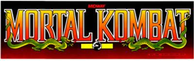 Mortal Kombat Video Arcade Marquee