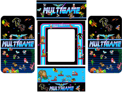 MultiGame 5 piece custom graphic restore kit