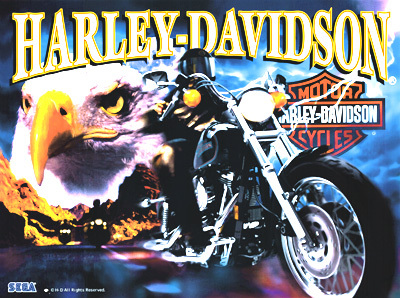 Sega Harley Davidson Pinball Translite