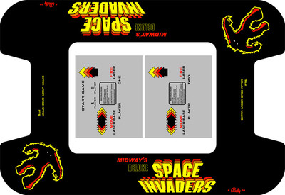 Space Invaders Deluxe Custom Bezel underlay and CPO LONG kit