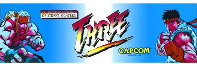 Street Fighter 3 Video Arcade Marquee