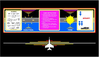 Time Pilot Control Panel Overlay