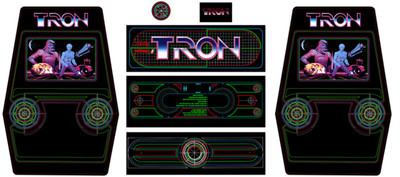 Tron upright 7 piece graphic restore ki