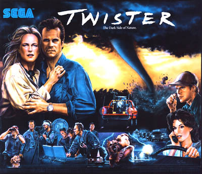 Twister replacement Pinball Translite