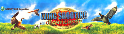Wing Shooting Video Arcade Marquee Sammy