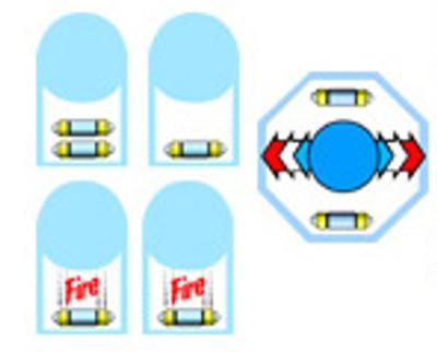 Arkanoid control panel sticker set
