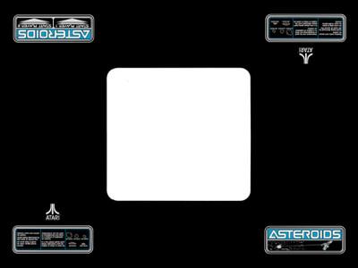 Atari Asteroids Cocktail Bezel Underlay