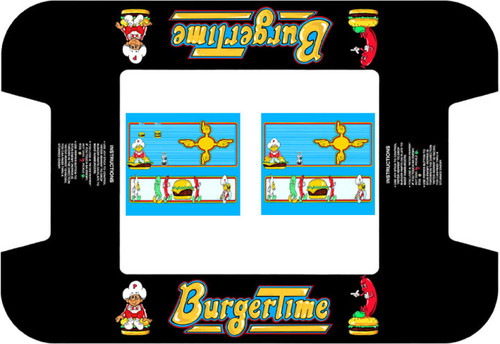 Burgertime Midway Cocktail graphic underlay and CPO kit