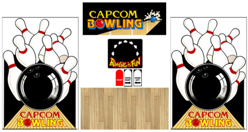 Capcom bowling graphic restore kit ALL wood CPO