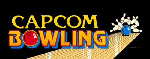 Capcom Bowling Video Arcade Marquee