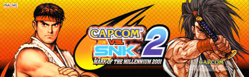 Capcom VS. SNK 2 Video Arcade Marquee