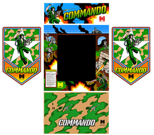 Commando Data East 5 piece graphic restore kit