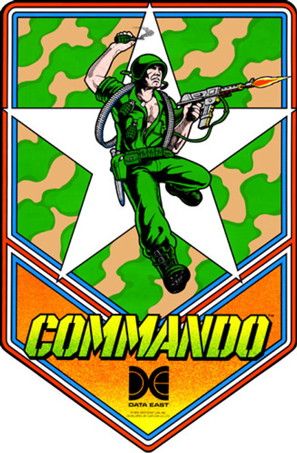 Commando Video Arcade Side Art