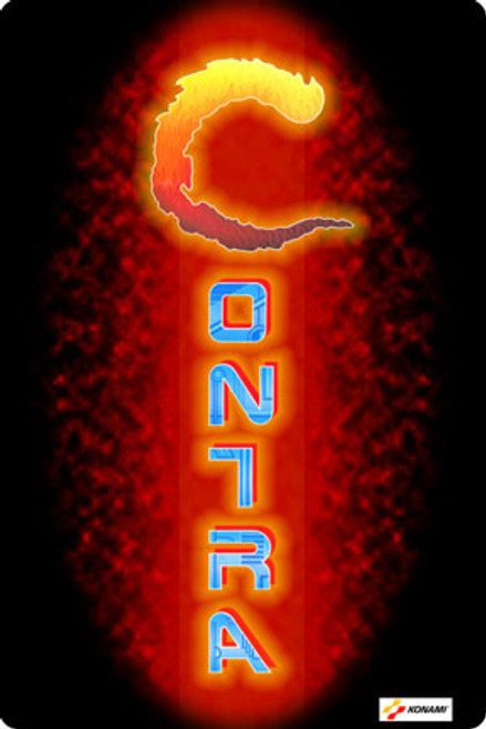 Contra custom Video Arcade Side Art