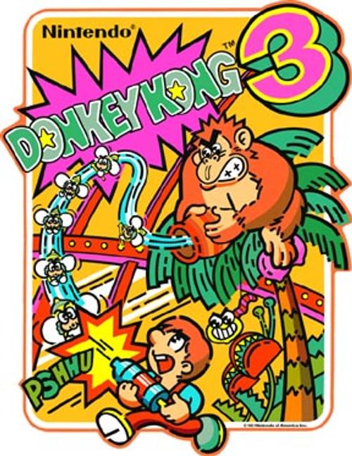 Donkey Kong 3 Video Arcade Side Art