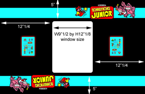 Donkey Kong Junior Cocktail Bezel underlay Nintendo