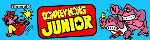 Donkey Kong Junior Video Arcade Marquee