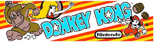 Donkey Kong Video Arcade Marquee
