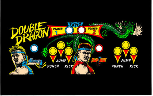 Double Dragon Control Panel Overlay