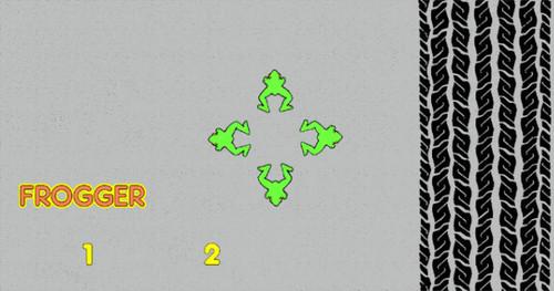 Frogger Control Panel Overlay