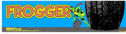 Frogger Video Arcade Marquee