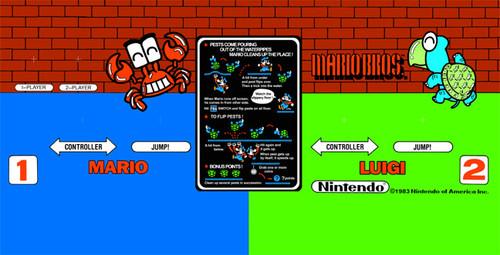 Mario Brothers Regular size Control Panel Overlay