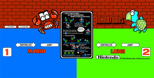 Mario Brothers Regular size Control Panel Overlay