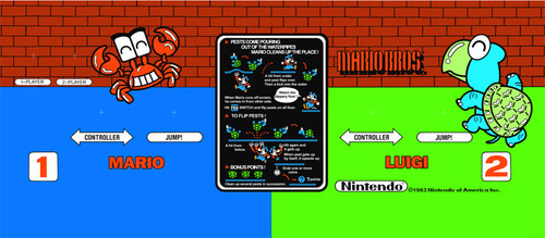 Mario Brothers Wide Body Control Panel Overlay