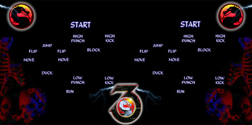 Mortal Kombat 3 Custom Control Panel Overlay