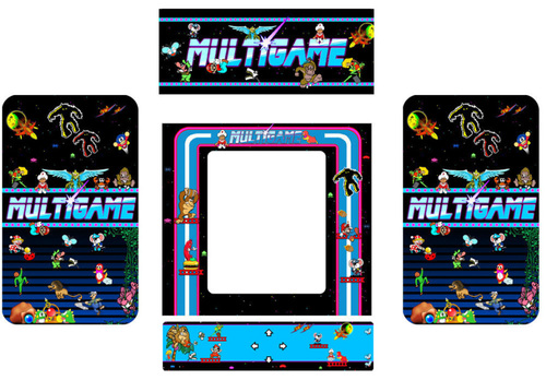 MultiGame Custom 5 piece graphic restore kit