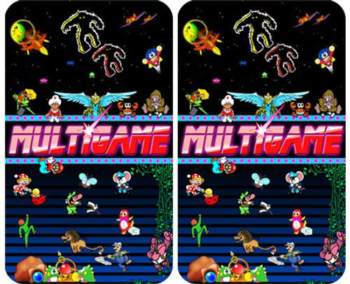 MultiGame RED custom Arcade Side Art