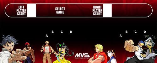 Neo Geo MVS custom Classic Arcade Control panel overlay