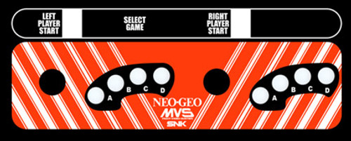 NEO GEO MVS Old Style Control Panel Overlay