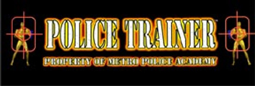 Police Trainer Video Arcade Marquee