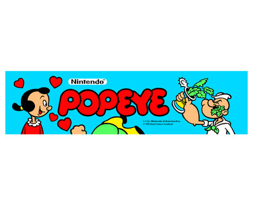 Popeye Video Arcade Marquee