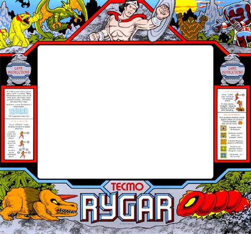 Rygar Upright Monitor Bezel Graphic