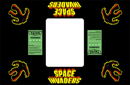 Space Invaders Custom Taito Cocktail Bezel underlay