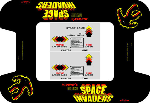 Space Invaders Deluxe Custom Bezel underlay and CPO kit