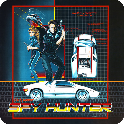 Spy Hunter Video Arcade Side Art