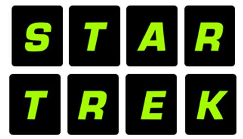 Star Trek 25th Pinball Drop target sticker set