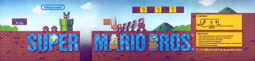 Super Mario Brothers Video Arcade Marquee
