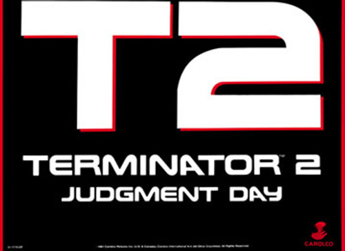 Terminator 2 Judgment day kick plate arcade art