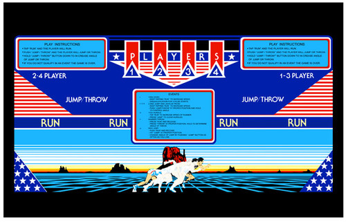 Track and Field Control Panel Overlay