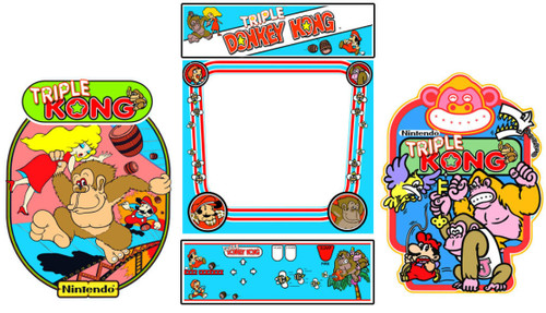 Triple Donkey Kong 5 piece graphic restore kit