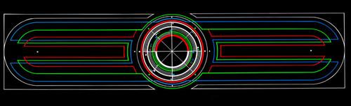 Tron coin door kick plate graphic