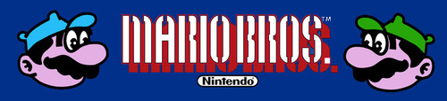 Mario Brothers Wide body Video Arcade Marquee