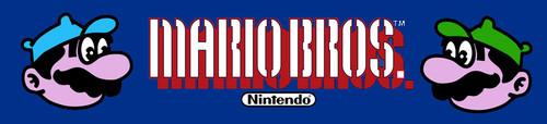 Mario Brothers Wide body Video Arcade Marquee