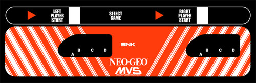 NEO GEO MVS 6 slot Control Panel Overlay