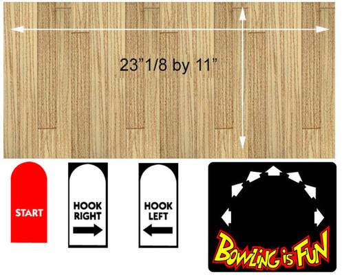 Capcom Bowling Control Panel Overlay ALL WOOD set